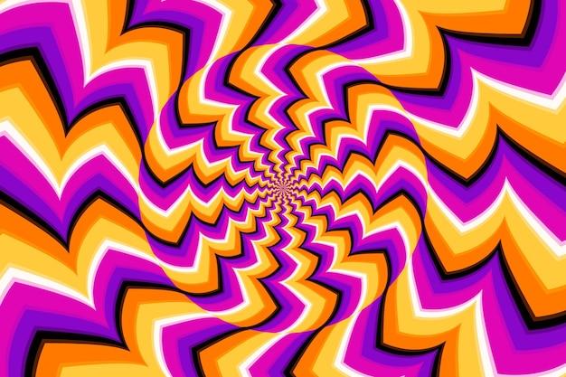 Thema der psychedelischen optischen täuschung