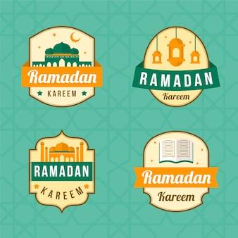 Thema der ramadan-etikettensammlung