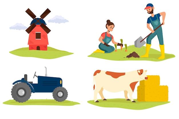 Thema des biologischen landbaus zur illustration