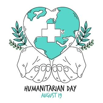 Thema des humanitären welttags