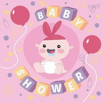 Thematisches konzept der babyparty für mädchen