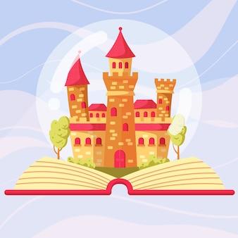 Thematisches konzept des märchenschlosses