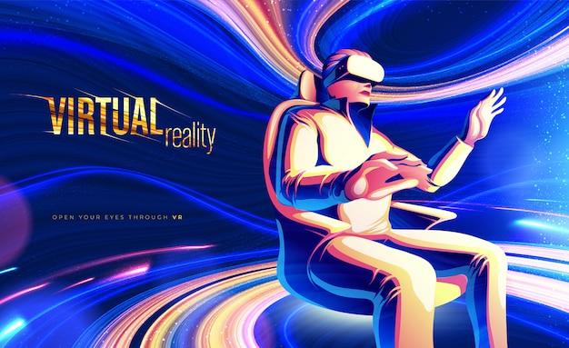 Themendesign für virtuelle realität