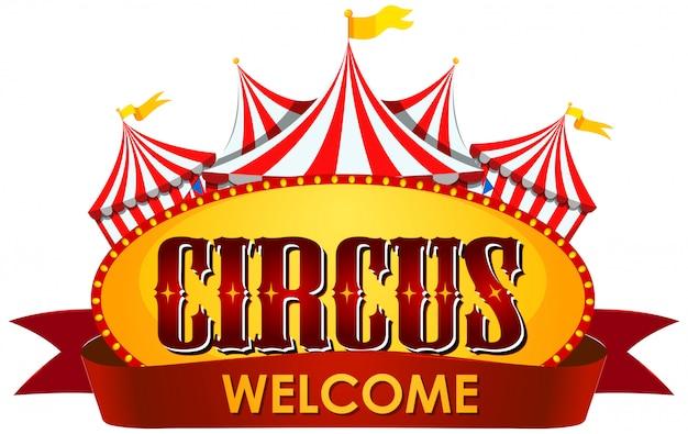 Themenvorlage für zirkus, jahrmarkt, vergnügungspark