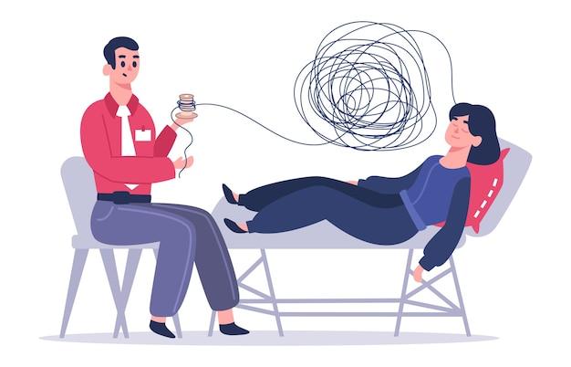 Therapeut, der emotionale unterstützung bietet