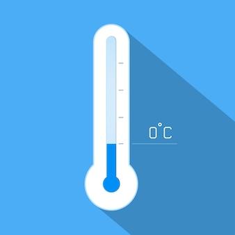 Thermometer kühle wintertemperatur.