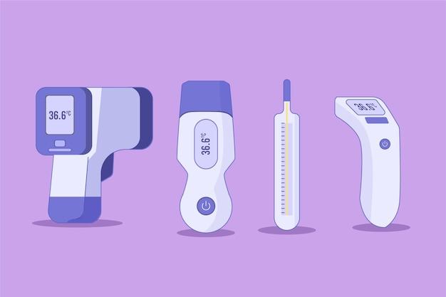 Thermometer mit flachem design