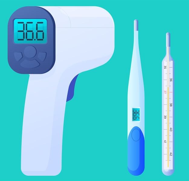 Thermometer zur messung der körpertemperatur, elektronische thermometer.
