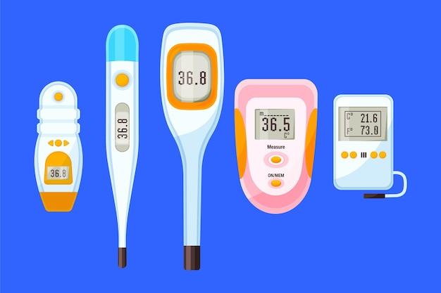 Thermometertypen in flacher ausführung