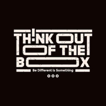 Think out the box zitiert typografie-design