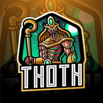 Thoth esport maskottchen logo design
