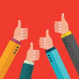 Thumbs up hintergrund-design