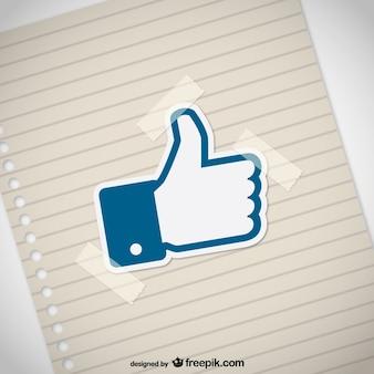 Thumbs up mit papier textur