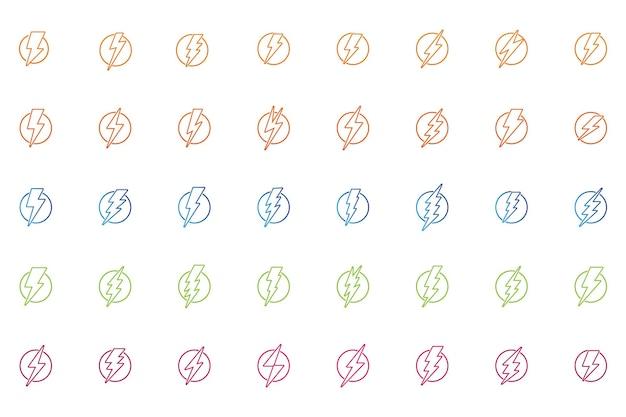 Thunderbolt-blitz-blitz-logo-set