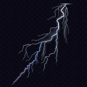 Thunderbolt glowing realistische lichteffekte