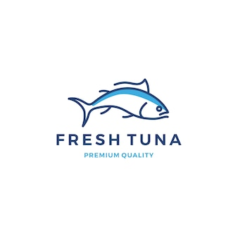 Thunfisch logo emblem label meeresfrüchte vektor icon
