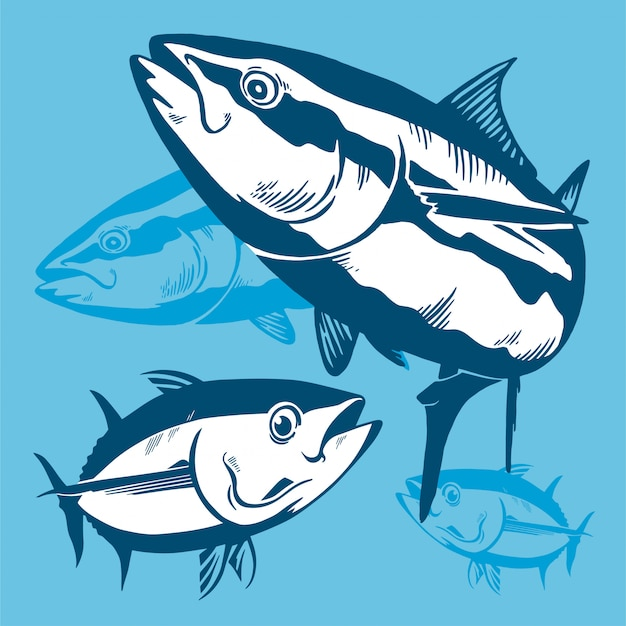 Thunfisch symbol zusammensetzung