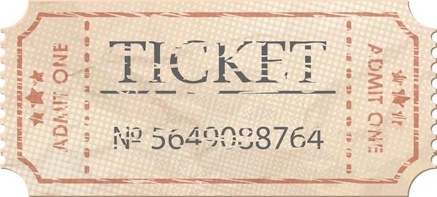 Ticket für einen jahrgang.