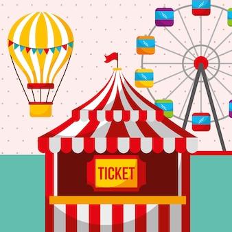 Ticket stand riesenrad karneval spaß messe festival