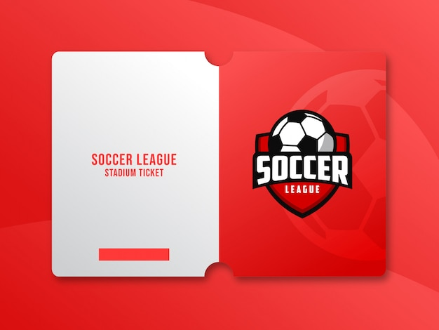 Ticket-template-design für fußballspiel