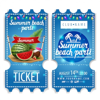 Tickets für die sommer-strandparty