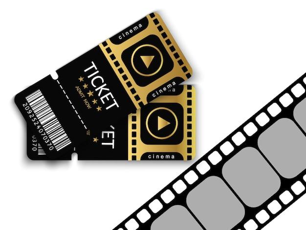 Tickets für die teilnahme an einer veranstaltung oder einem film.