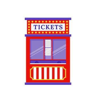 Ticketschalter. vektor-illustration. flaches design.