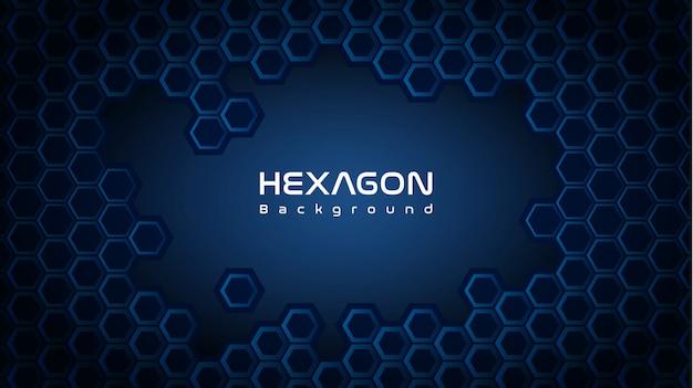 Tiefer hexagonhintergrund