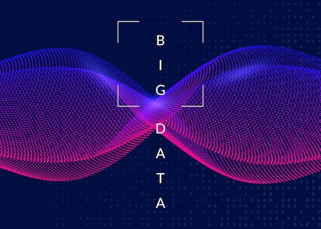 Tiefer lernender hintergrund. technologie für big data