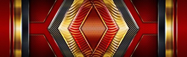 Tiefschwarzer roter smaragd mit königlicher goldener abstufung