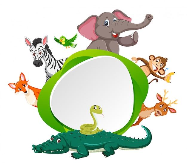 Tier am grünen rand