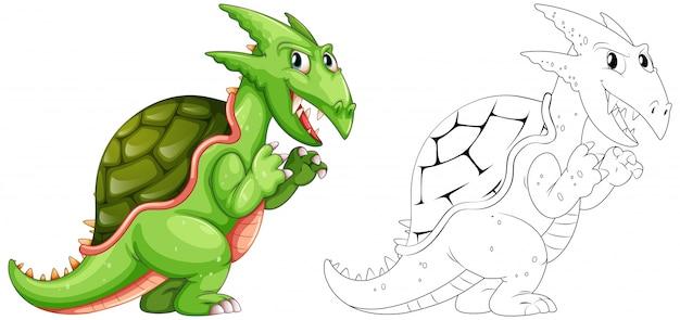 Tier für drachen mit schale zeichnen