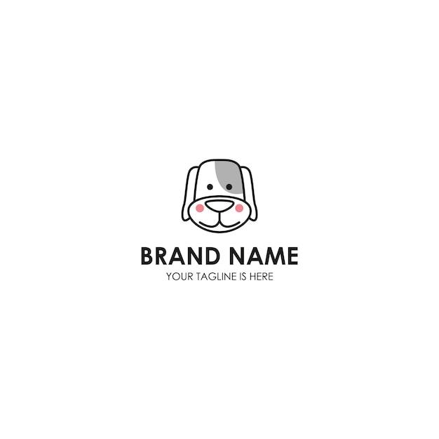Tier hund logo vorlage