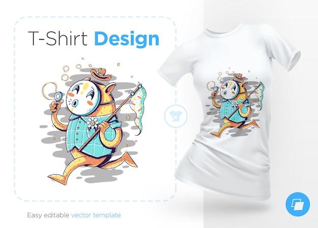 Tier in der maske, die blasen bläst. drucke auf t-shirts, sweatshirts, hüllen für handys, souvenirs. isolierte illustration