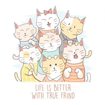 Tier-nette katze bester freund