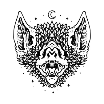 Tier owl line graphic illustration vektorgrafik t-shirt-design