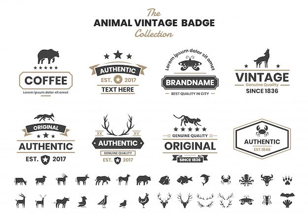 Tier vintage für banner