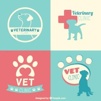 Tierärztliche klinik logo-vorlagen