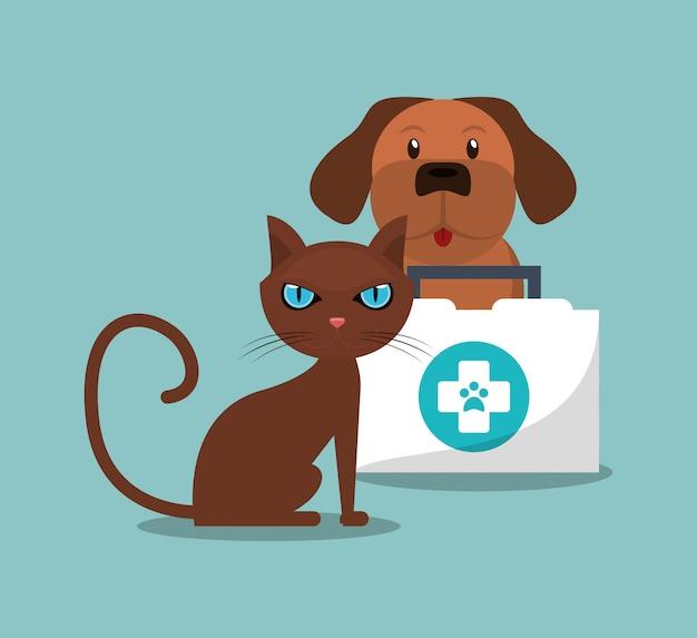 Tierarzt verwandte symbole bild