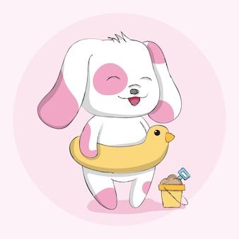 Tiercharakterhand des netten hundes gezeichnet
