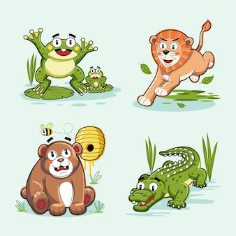 Tierdesign-vektor-doodle