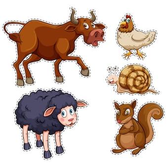 Tiere auf dem bauernhof sammlung