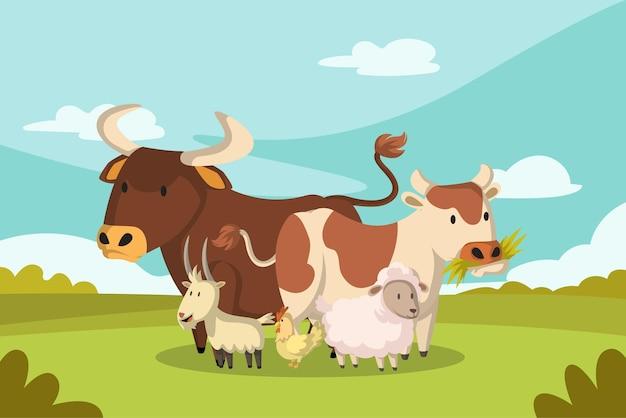 Tiere bauernhof illustration