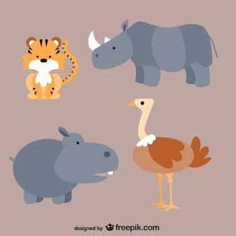 Tiere cartoons packen