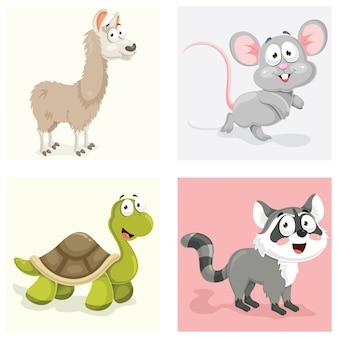 Tiere-illustrations-set