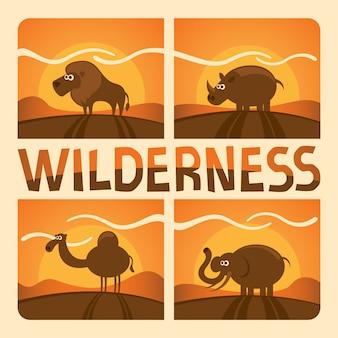Tiere in der wildnis