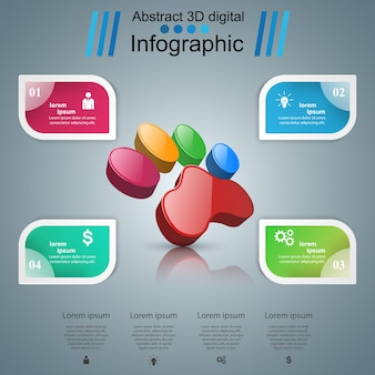 Tiere infografik und business-symbol.