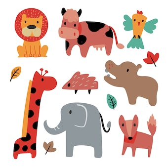 Tiere sammlung vektor design