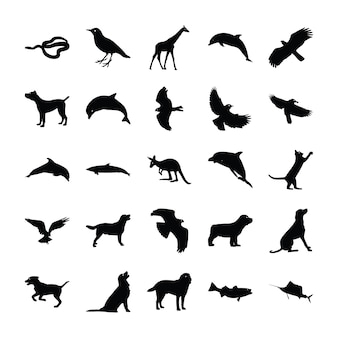 Tiere silhouette pack