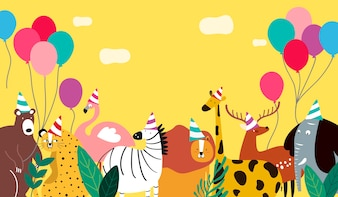 Tiere Thema Vorlage Vektor-Illustration